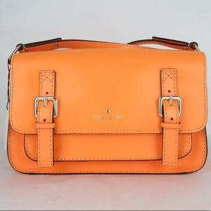 nwt  auth KATE SPADE safety orange CROSSBODY bag